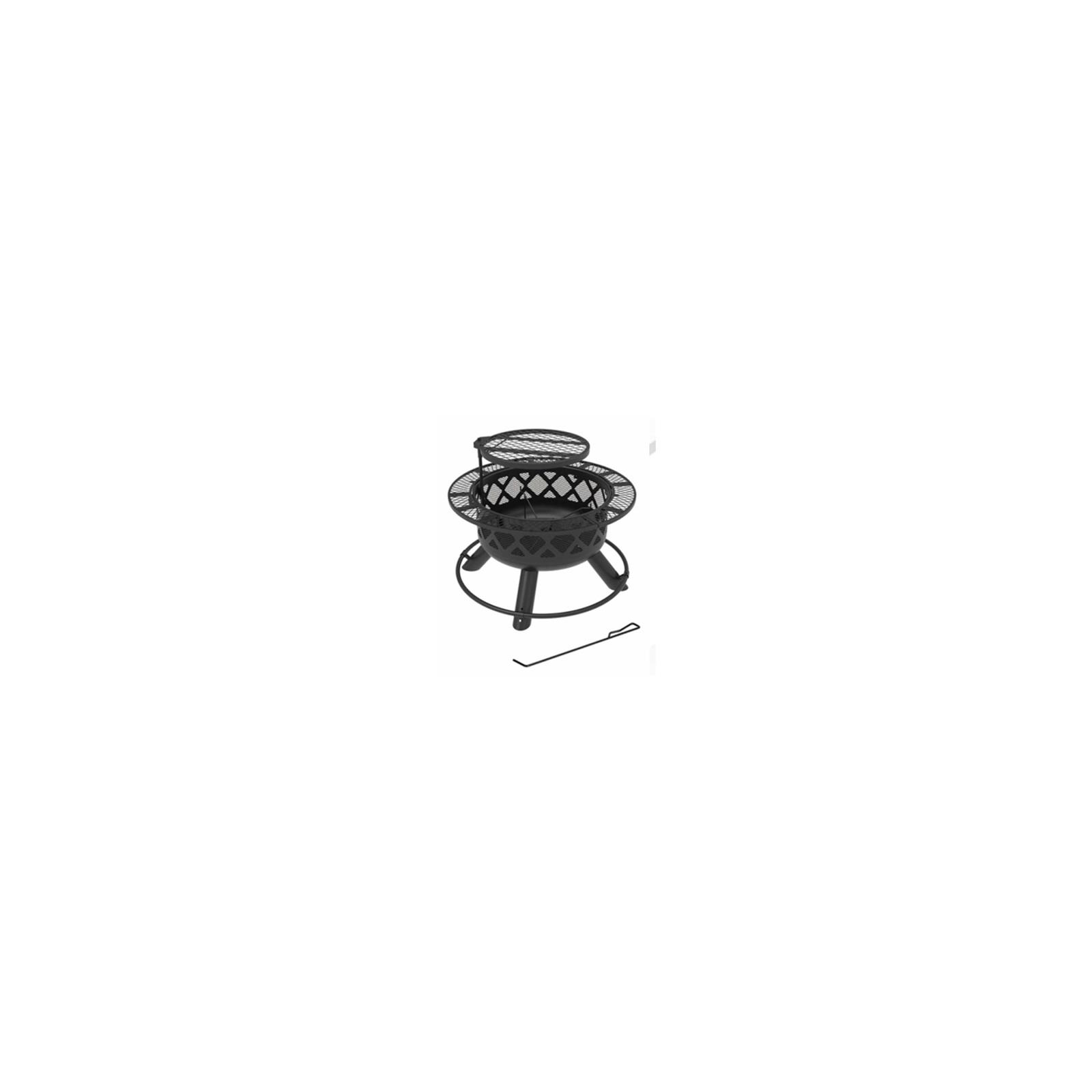 thumbnail 2 - SRFP9624 Ranch Fire Pit With Side Tables & Grill Top, 24-In. - Quantity 1
